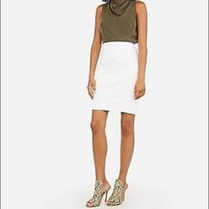 INTERMIX White Pencil Skirt